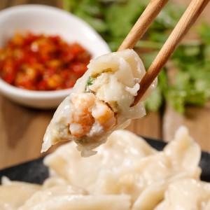 東港手工蝦仁魚肉水餃1包(440g±10%/20粒)
